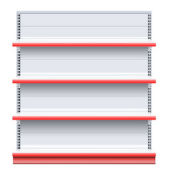 Supermarket shelf vector