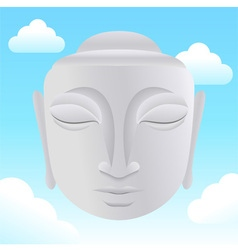 Buddha head in sky vector