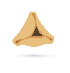 Happy purim tasty hamantaschen symbol of jewish vector