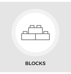 Blocks flat icon vector