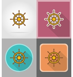 Pirate flat icons 09 vector