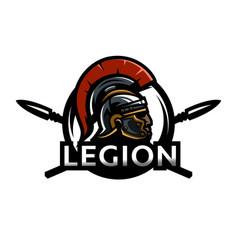 a warrior of rome a legionary logo vector image vector image