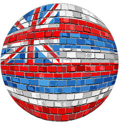 Ball with hawaii flag vector