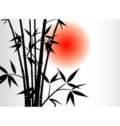 bamboo background and sun vector image