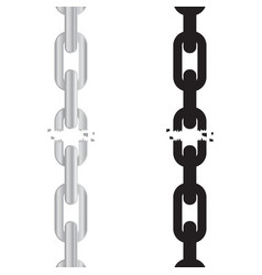 broken torn chain vector image