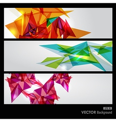 Colorful geometric transparency vector image vector image
