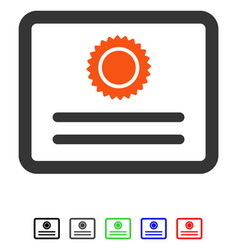 Diploma flat icon vector