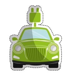 Eco friendly car icon image vector