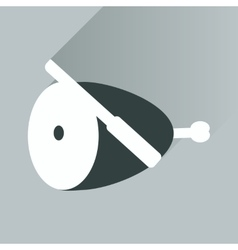 Flat icon with long shadow ham and knife vector