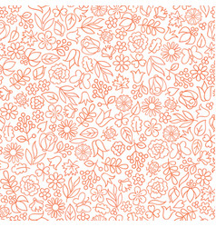 Floral white seamless pattern flower icon vector