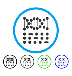 genetic code rounded icon vector image vector image