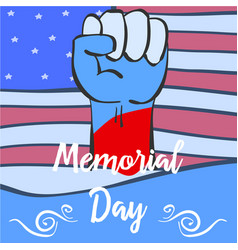 Hand draw memorial day collection style vector