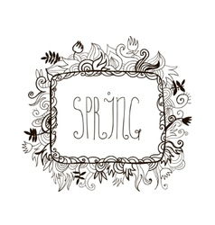 hand drawn doodle vector image vector image