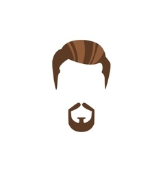 Hipster male hair and facial style with circle vector