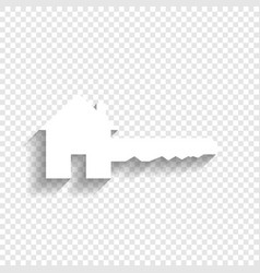 home key sign white icon with soft shadow vector image vector image