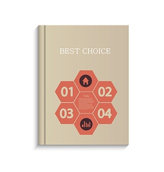 Infographic book design on white background eps10 vector