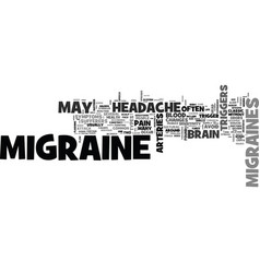 is this a migraine headache text background word vector image vector image