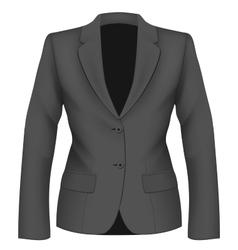 Ladies black suit jacket vector image vector image