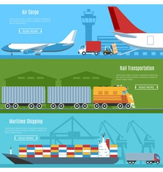Logistic And Transportation Banners Set vector image vector image