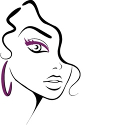 makeup icon vector image vector image
