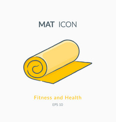 Mat icon isolated on white vector