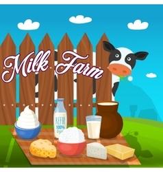 Milk food concept vector
