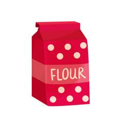 pack of flour baking ingredient vector image