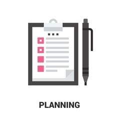 planning icon concept vector image