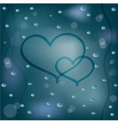 Rainy background vector image