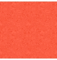 Red Line SEO Seamless Pattern vector image