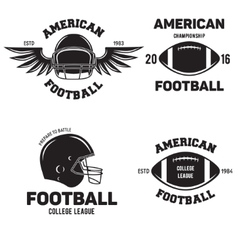 Retro vintage american football emblems set logos vector