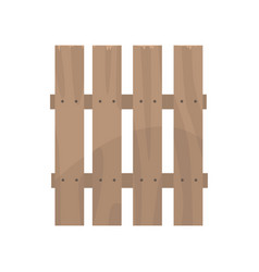 Rural wooden fence boundary for farm or country vector