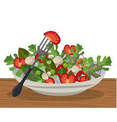 salad vegetables fresh diet lunch image vector image vector image