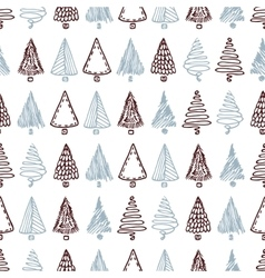 Seamless pattern with hand drawn different vector image vector image