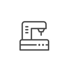 sewing machine line icon vector image