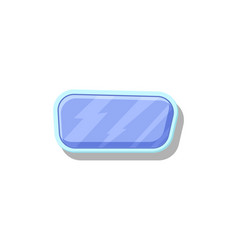shiny blue button for game menu interface vector image