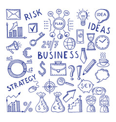 Sketches at business theme creative vector