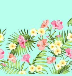 Tropical flower garland vector