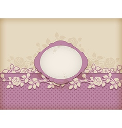 Vintage label and roses vector image
