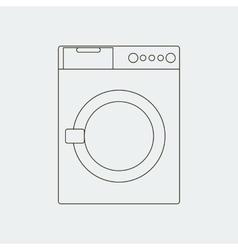 Washing machine path vector image