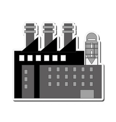 Building plant industry design vector