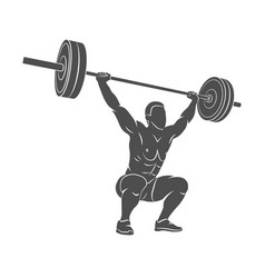 Strong man powerlifting vector