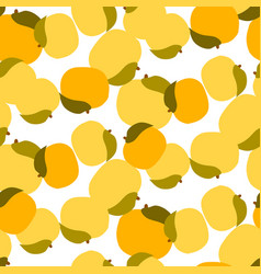 Apricot seamless pattern on white vector
