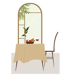 Dining room background vector