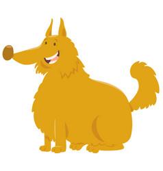 yellow shaggy dog cartoon vector image