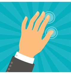 Hand touching fingers in flat design style vector