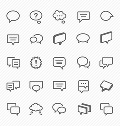 Talk bubble icons vector image