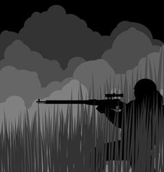 Night sniper vector