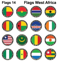 World flags western africa vector