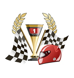 Racing prize grunge vector